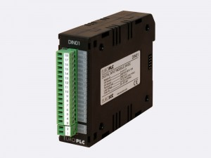 Digital input module BACnet PLC - M2.DIN.01 has 16 digital inputs 24 VDC with common pole and LED indication of input circuit state. The first two digital inputs can be used as the counter inputs.