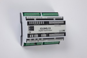 BACnet PLC - C2.DIO.12 can be used in remote fields IO in any Bacnet and/or Modbus network - Native Bacnet programmable device, 4 relay outputs, 16 digital inputs