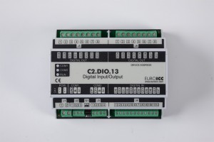 BACnet PLC - C2.DIO.13 can be used in remote fields IO in any Bacnet and/or Modbus network - Native Bacnet programmable device, 8 relay outputs, 8 digital inputs