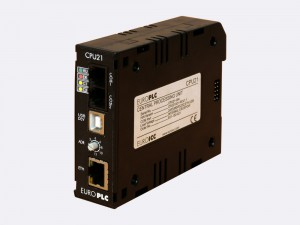 Central processing module BACnet PLC - M4.CPU.21 executes user's PLC program, manages I/O modules in its configuration and performs communication with uplink systems.