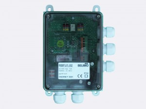 RBFU 1.02 Field Unit is used for controlling one Belimo 230 V fire damper actuator (BF230.., BFG230.., BLF230..). The unit is connected to the ringbus master controller module via a 4 wire ring bus communication
