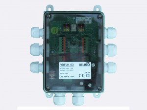 RBFU 1.03 Field Unit is used for controlling up to two Belimo 230 V fire damper actuators (BF230.., BFG230.., BLF230..). The unit is connected to RingBus master controller via the 4 wire Ringbus communication
