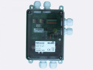 RBFU 2.02 is used for controlling one Belimo 230 V smoke control damper actuator (BE230.., BLE230). The unit is connected to the Ringbus master controller via a 4 wire ring bus communication