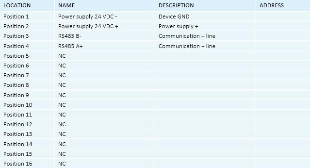 Smart Programmable Thermostat - RG.RDA.01 - Wiring