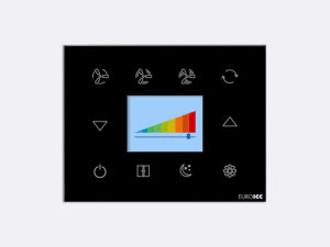 Smart Programmable Intelligent wall touch panel for Guest Room Management System, Smart Hotel Control, Home Automation and Building Automation - RD.RDA.03 - Customizable Intelligent Room Thermostat designed for wide range of Building Automation and Guest Room Management System tasks