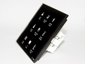 Programmable wall touch panel for use in hotel rooms or smart home